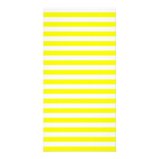 Thin Stripes - White and Lemon Photo Card