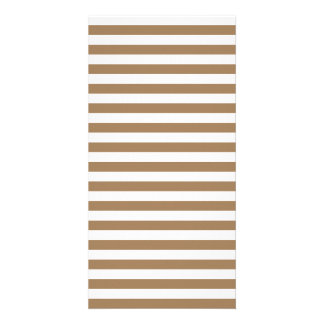 Thin Stripes - White and Pale Brown Customized Photo Card