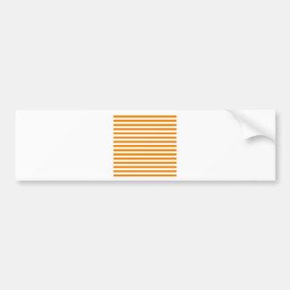 Thin Stripes - White and Tangerine Bumper Sticker