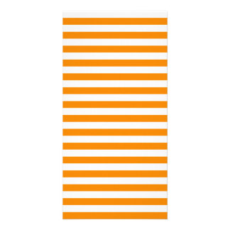 Thin Stripes - White and Tangerine Photo Card