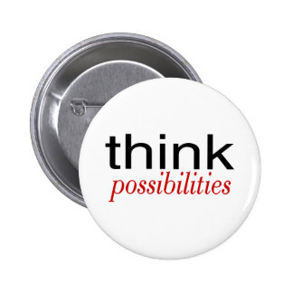 Think Possibilities Deep Red 6 Cm Round Badge