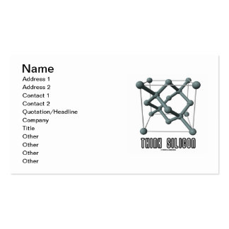 Think Silicon (Silicon Crystal Structure) Pack Of Standard Business Cards