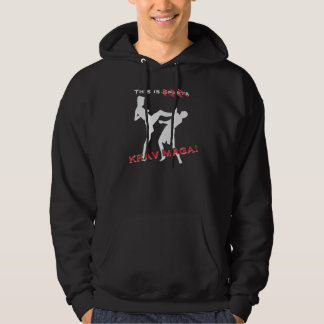 This are Krav maga Hooded Pullover