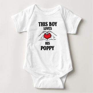 This boy loves his Poppy T-shirt