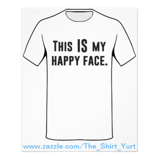 This IS my Happy Face 11.5 Cm X 14 Cm Flyer
