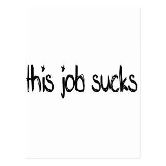 this job sucks postcard