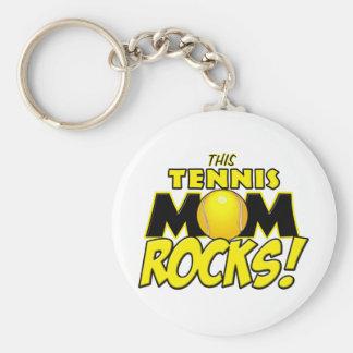 This Tennis Mom Rocks.png Basic Round Button Key Ring