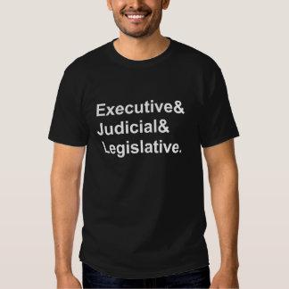 Three Branches of Government Executive Legislative Tshirts