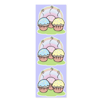 three cute little cupcakes bookmark pack of skinny business cards