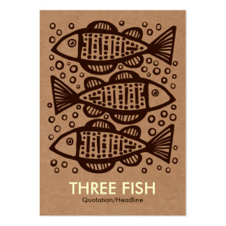Three Fish - Cardboard Box Tex Pack Of Chubby Business Cards