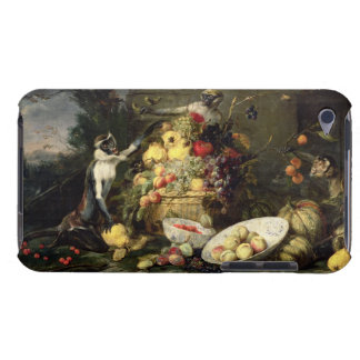 Three Monkeys Stealing Fruit (oil on canvas) iPod Touch Covers