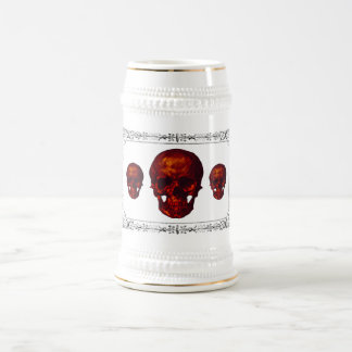 Three Red Skulls Beer Steins