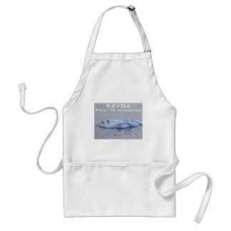 Ticket To Antarctica, by KevOz Standard Apron