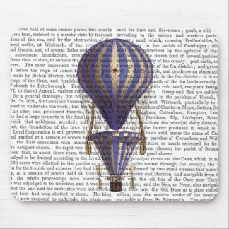 Tiered Hot Air Balloon Blue Mouse Pad