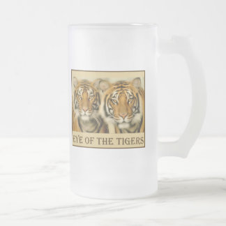 Tiger Eyes Frosted Glass Mug