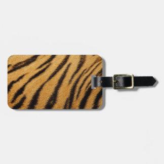 Tiger Fur Stripes Bag Tag