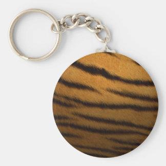 Tiger Stripes Basic Round Button Key Ring