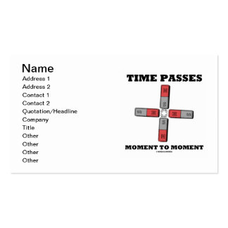 Time Passes Moment To Moment (Physics) Pack Of Standard Business Cards