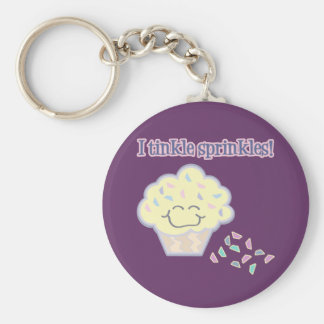 tinkle sprinkles funny cupcake basic round button key ring