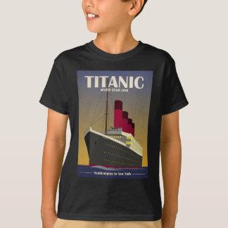 Titanic Ocean Liner Art Deco Print T-shirt