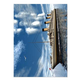 Titanic ship 14 cm x 19 cm invitation card