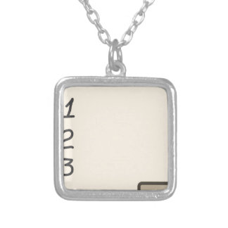 To do list square pendant necklace