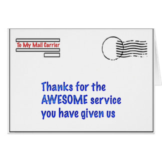 to my mail carrier greeting card