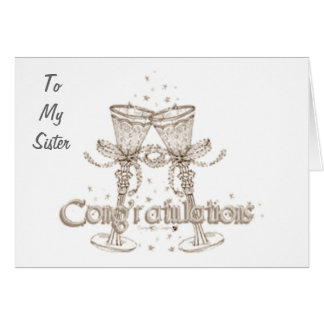 TO MY SISTER CONGRATS WEDDING DAY GREETING CARD