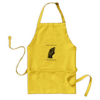 To think or not to think - That is the question Standard Apron