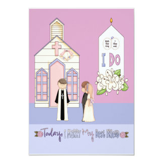 Today I Marry My Best Friend 13 Cm X 18 Cm Invitation Card