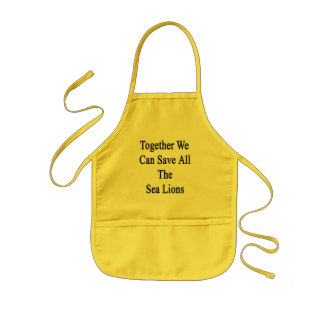 Together We Can Save All The Sea Lions Kids Apron