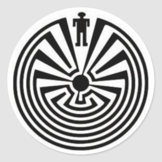 Tohono O'odham Man in the Maze Collector Stickers