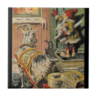 Tomte Nisse, aka Santa Clause Small Square Tile