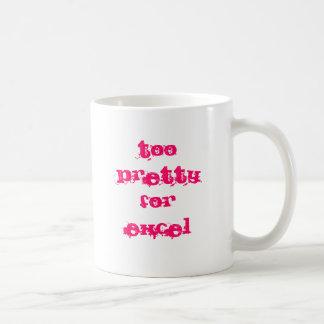 Too Pretty For Excel Basic White Mug