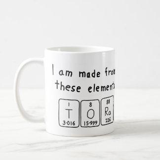 Tora periodic table name mug