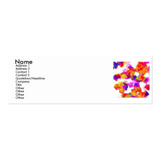Torn Colours I Profile Card Pack Of Skinny Business Cards