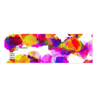 Torn Colours II Profile Card Pack Of Skinny Business Cards