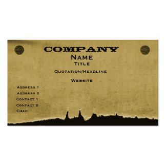 Torn Paper Business Card, Dark Beige Pack Of Standard Business Cards