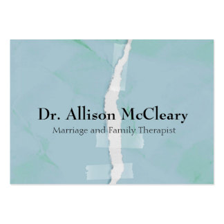 Torn paper family psychology therapy pack of chubby business cards