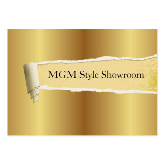 torn paper, gold plate effect pack of chubby business cards