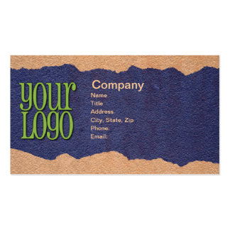 Torn Paper Pack Of Standard Business Cards