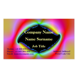 Torn Psychedelic Picture Frame Card Pack Of Standard Business Cards