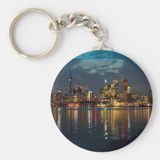 Toronto DownTown Spectacle CNTower Waterfront fun Basic Round Button Key Ring