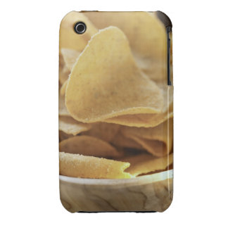 Tortilla chips in wooden bowl iPhone 3 Case-Mate cases