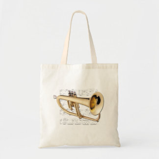 Tote - Flugelhorn and sheet music Budget Tote Bag