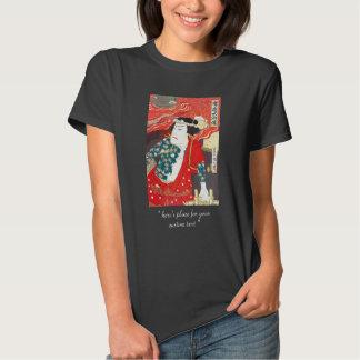 Toyohara Kunichika: Kabuki - Tattooed Firefighter Tee Shirt
