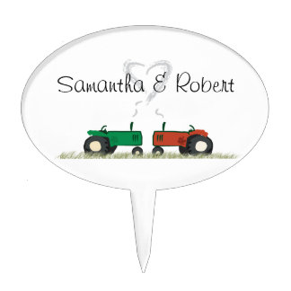 Tractor Wedding Cake Topper