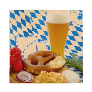Traditional Bavarian Snack Wood Coaster
