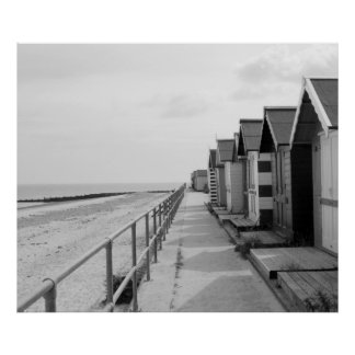 """Traditional Wooden Beach Huts"" Poster"