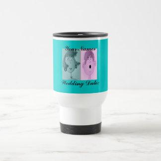 "Travel Mug ""Wedding Date"""